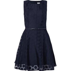 Apricot Kleid mit eingearbeiteten Polka Dots