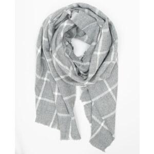 Echarpe plaid à carreaux gris, Femme, Taille 00 -PIMKIE- MODE FEMME
