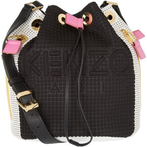 Kenzo Sacs à Bandoulière, Kombo Neoprene Multicolor Bucket Bag Black en multicolore
