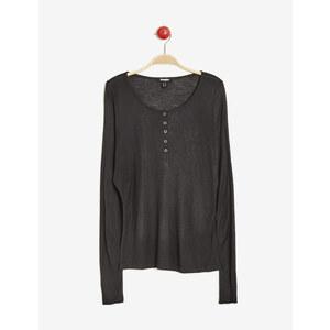 tee-shirt manches longues noir Jennyfer