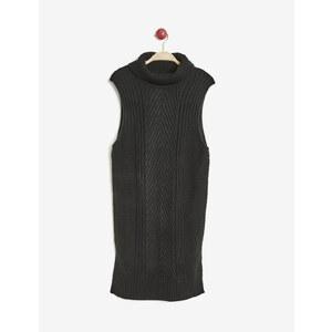tunique pull texturée noire Jennyfer