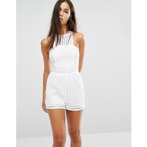 Missguided - Combishort en tulle - Blanc