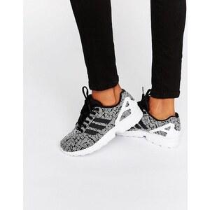 Adidas Originals - Zx Flux - Baskets imprimées à rayures sur le côté - Noir - Multi