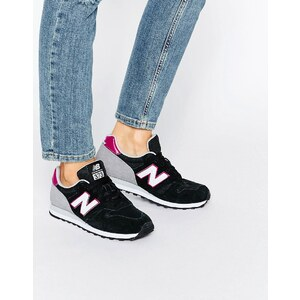 New Balance - 373 - Baskets - Noir et violet - Noir