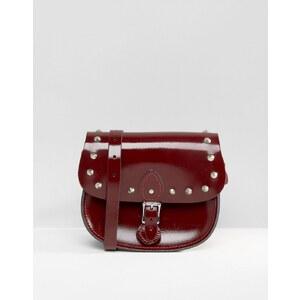 The Leather Satchel Company - Sacoche cloutée - Rouge