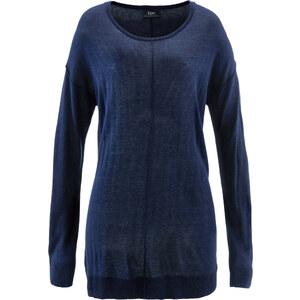 bpc bonprix collection Pull oversize bleu manches longues femme - bonprix