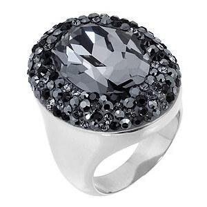 CADENZZA Crystal Fancy Oval Ring