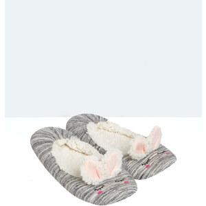 Ballerines intérieur fourré, détail oreilles de lapin Etam