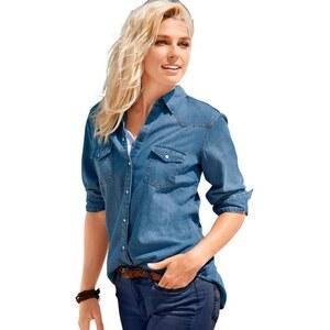 Damen Classic Inspirationen Jeansbluse mit Hemdkragen CLASSIC INSPIRATIONEN blau 36,38,40,42,44,46,48,50,52,54