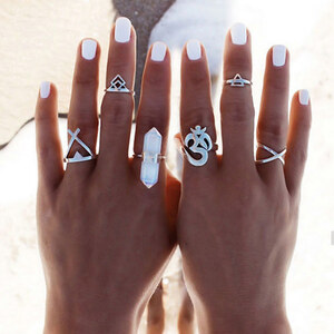 Lesara 6-teiliges Ring-Set im Boho-Design