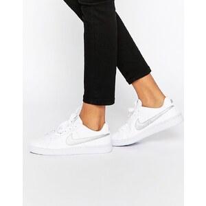 Nike - Court Royal - Baskets - Blanc et argenté - Blanc