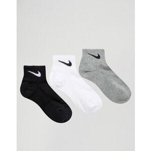 Nike - Lot de 3 paires de chaussettes basses avec rembourrage - Multi