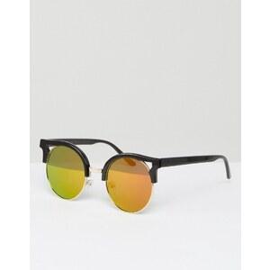 Missguided - Lunettes de soleil yeux de chat - Noir