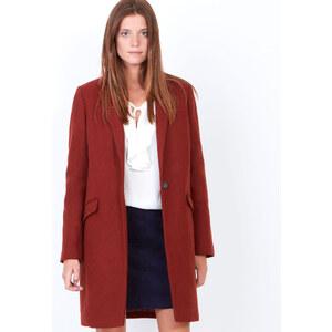 Manteau en laine à col tailleur Etam