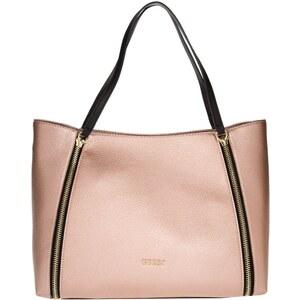 Guess Sacs portés main, Angie Tote Bag Rose Metallic en rose pâle