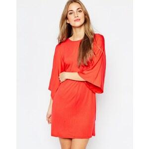 ASOS - Robe t-shirt à manches kimono - Rouge