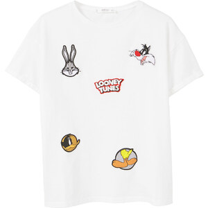 MANGO T-Shirt Mit Dekorativen Patches