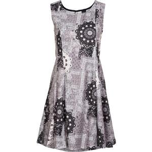 BODYFLIRT Jersey Kleid mit Allover-Druck in schwarz von bonprix