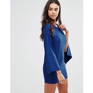 Unique 21 - Robe droite à manches fendues - Bleu