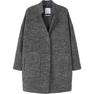 MANGO Manteau En Laine Et Coton