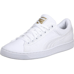 Puma Basket Tech Pack chaussures white/gold