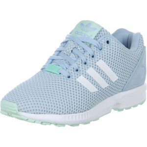 adidas Zx Flux W chaussures sky/white/frog green