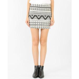 Mini jupe jacquard noir, Femme, Taille L -PIMKIE- MODE FEMME