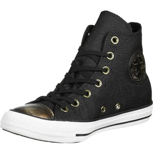 Converse All Star Hi W chaussures black/light gold