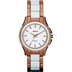 Dkny Armbanduhr - Westside Ceramic Rosegold White - in weiß - Armbanduhr für Damen