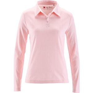 bpc bonprix collection Polo manches longues rose femme - bonprix