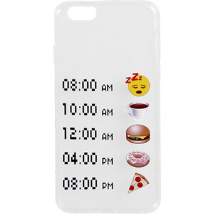 Tally Weijl Coque Blanc à Emojis pour iPhone 6