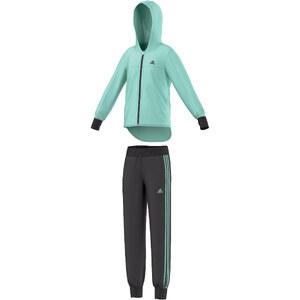 adidas Performance Girls Trainingsanzug mit Kapuze Hooded Polyester Tracksuit