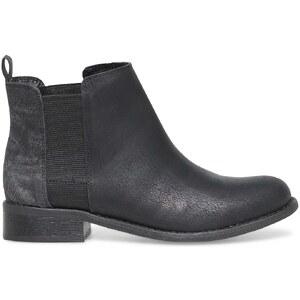 boots plat noir gris E-you