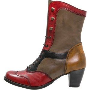 Dkode VYLMA Bottines à lacets red/taupe
