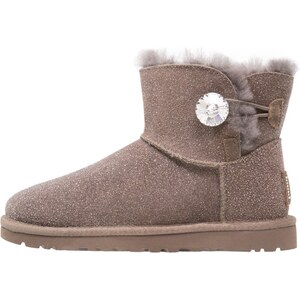 UGG MINI BAILEY BUTTON BLING SEREIN Boots à talons stormy grey