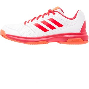 adidas Performance ADIZERO ATTACK Chaussures de tennis sur terre battue white/ray red/silver metallic