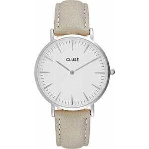Cluse LA BOHÈME Montre silvercoloured/white/grey