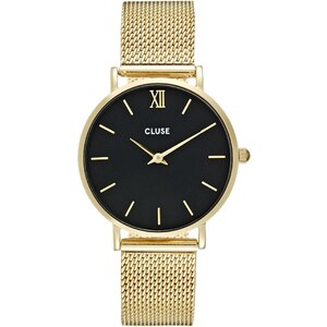 Cluse MINUIT Montre mesh goldcoloured/black