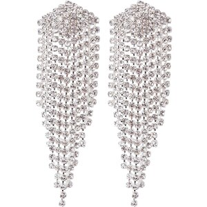 sweet deluxe Boucles d'oreilles silvercoloured/crystal