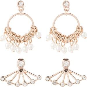 Miss Selfridge 2PACK Boucles d'oreilles rose goldcoloured