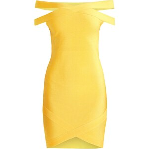 Missguided Robe en jersey yellow