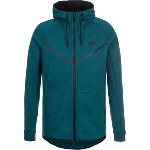 Nike Sportswear TECH FLEECE Sweat zippé midnight turquoise/heather/black
