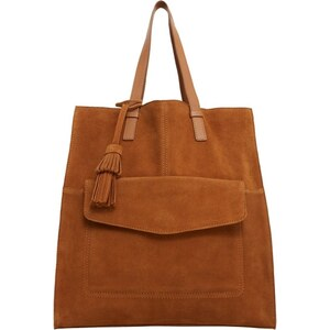 Mango Cabas medium brown