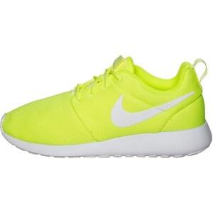 Nike Sportswear ROSHE RUN Baskets basses volt/white
