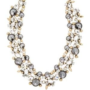 sweet deluxe CORDOBA Collier antikgold/crystal/black diamond
