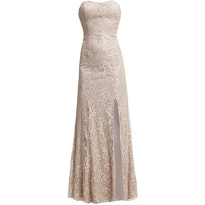 Unique Robe de cocktail pale champagne