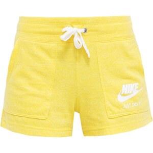 Nike Sportswear GYM VINTAGE Pantalon de survêtement jaune/blanc