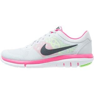 Nike Performance FLEX RUN 2015 Chaussures de running compétition pure platinum/metallic hematite/voltage green/hyper pink