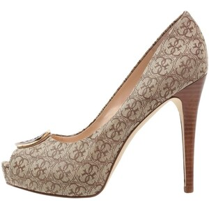 Guess HAPPEY Escarpins à bout ouvert beige/brown
