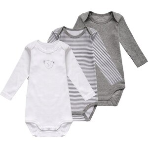 Name it 3 PACK Body grey melange